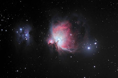 Orion Nebula M42 (chris_swatton) Tags: light sky man night canon dark stars eos star mark ss tube running hampshire mount telescope nebula astrophotography short orion mk2 5d astronomy 130 deepspace mkii tmb 80mm skywatcher heq5 130mm tmb130ss shorttube competition:astrophoto=2011
