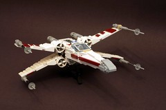 X-wing update (psiaki) Tags: star fighter lego xwing wars moc t65 starfighter incom