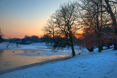 Sefton Park (John_Kennan) Tags: winter sunset snow cold tree ice liverpool hdr highdynamicrange seftonpark photomatix