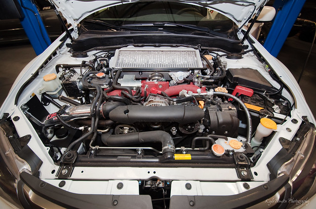 2010 STi engine bay
