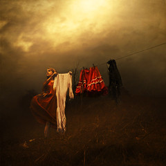 the horizon (brookeshaden) Tags: sky storm wind ominous foreboding hill clothes missaniela brookeshaden texturebylesbrumes