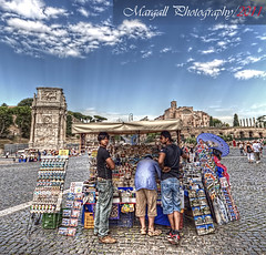 Souvenir from Rome - HDR - By Galletto Marco (Margall photography) Tags: from people italy rome roma shop canon photography italia 10 sigma colosseum souvenir marco 20 arco hdr colosseo 30d galletto margall