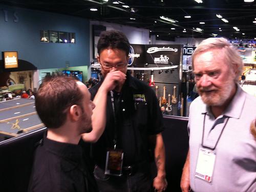Adam Grayer with Scott Uchida and Jim Dunlop