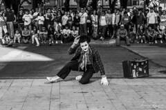 Mime in the Square (Mario Rasso) Tags: chile street plaza blackandwhite bw square calle nikon chili mimo mime valdivia 2470mm d700 mariorasso
