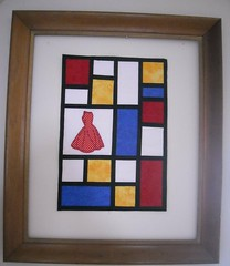 Mondrian Art: Ode to a Red Dress