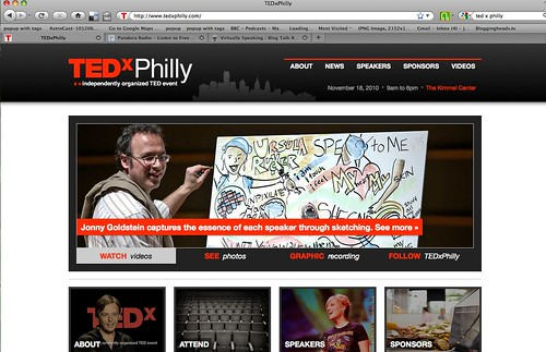 TEDxPhilly Homepage: Featuring Jonny Goldstein