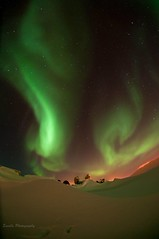 DSC_9899-1s (savillent) Tags: winter sky snow canada cold night dark stars lights northwest space north arctic astrophotography aurora northern territories borealis tuktoyaktuk