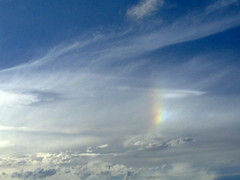 Parhelium in a beautiful clouded sky, very interesting phenomena! (Otomodachi) Tags: sky sun holland amsterdam weather clouds view nederland thenetherlands wolken halo sunny august uitzicht lucht zon sundog hemel augustus phenomena weer zonnig bijzon parhelium fenomeen