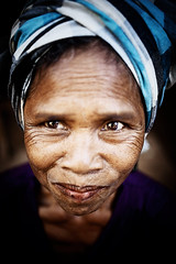 Lao woman (yanseiler) Tags: old woman asia ride asie turban tribe laos wrinkle lao pakse boloven