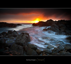 Hastings Pt_8158 (Baileyimagery) Tags: ocean longexposure sea seascape water sunrise rocks moody seascapes 5d grad raincloud longexposures hastingspoint ndgrad ef1740mm 5dmark2