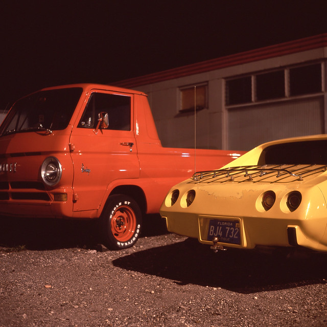 auto county orange usa west color 120 6x6 tlr film beach sports car yellow night analog america dark square lens us reflex focus automobile long exposure fuji conversion mechanical florida suburban south united release tripod north lot patrick twin pickup slide cable palm 64 mat chrome 124g vehicle dodge after medium format fl states tungsten manual 80 joust corvette fujichrome e6 yashica estados 80mm f35 reversal unidos yashinon t64 autaut soflo patrickjoust