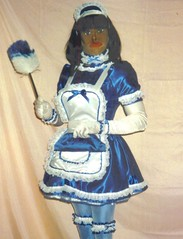 Satin Fetish Maid Doll (phit2btyd) Tags: fetish apron sissy satin maid crossdress submissive