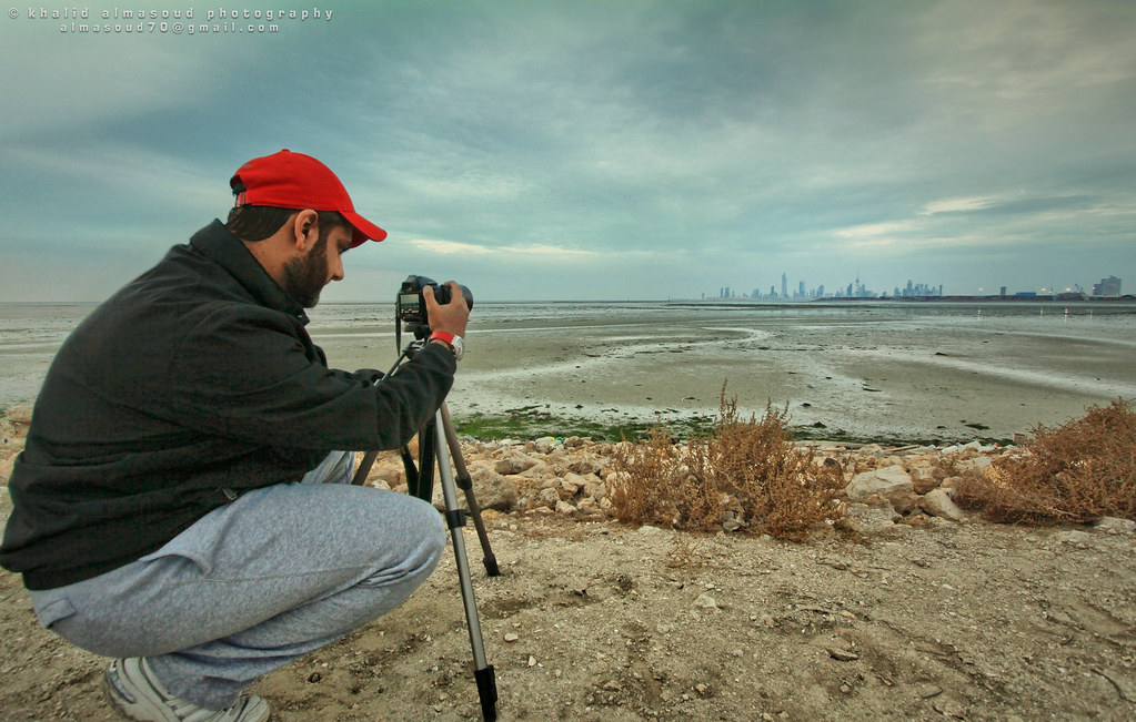 Preparing to shot Kuwait City