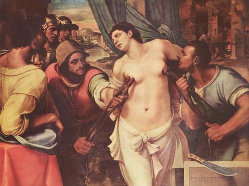 Sebastiano del Piombo - Martyrdom of St Agatha  by Sonnenburg
