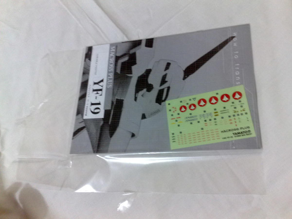 Yamato 1/60 YF-19 Manual & Stickers