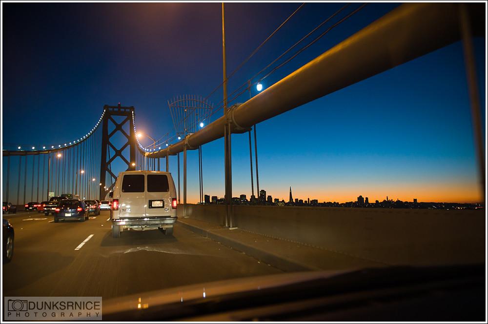 Bay Bridge sunset.
