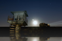 Night at Tower 3 (Lee Sie) Tags: blue sky tower night liberty jeep lifeguard pines moonlight torrey