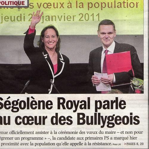 Ségolène Royal parle au coeur des Bullygeois
