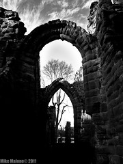 In the ruins i shall wait (phzik) Tags: old white black ancient ruins chester