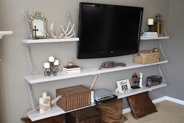 Life Thru A Linds: DIY Living Room Media Shelves