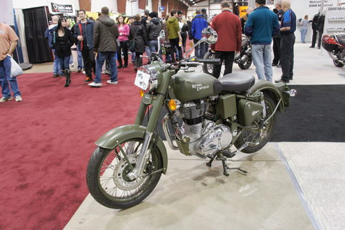 Royal Enfield, Vancouver Motorcycle Show 2011, Tradex Exhibition Centre, Abbotsford, Colombie-Britannique