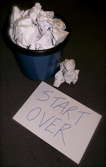 New Beginnings (3/52) (Sarah, Outer Hebrides) Tags: new white trash start paper can fresh bin clean again beginning rubbish sheet slate rough scrap week3 newbeginnings drafts sarahstewart 52images2011