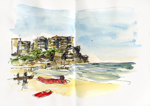 110122 Sketchcrawl 30_12 Queenscliff Beach
