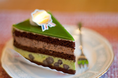 (Froschmann : ) Tags: green cake japan matcha   lightroom k7  smcpentaxm50mmf17 rawdevelopment