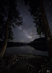 A-frame Sky (Ben Canales) Tags: oregon way stars star mthood milky starry lostlake bencanales starsreflectinginwater