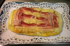 Pizza casera con bacon  28