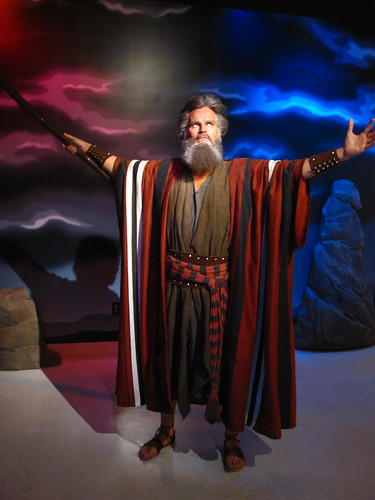 Charleton Heston/Moses figure at Madame Tussauds Hollywood