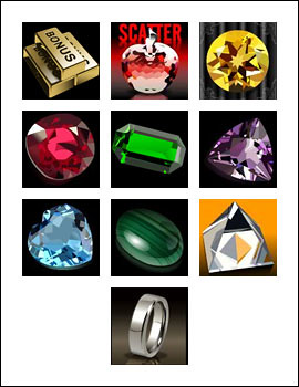 free Black Diamond slot game symbols