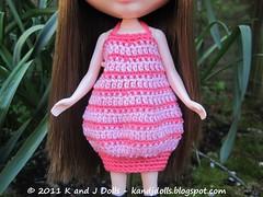 Crochet Pattern Blythe Doll: Piggy Dress and Hat