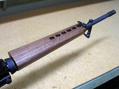 Ironwood Designs finished handguard installed (simonov) Tags: furniture walnut ar15 ironwood woodfinishing stockfinishing americasrifle