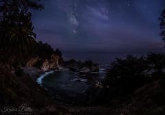 McWay Milky Way (wandering indian) Tags: milkyway landscape kedardatta mcway falls waterfalls pacific pch highway1 nikon nightphotography