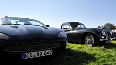 Decades apart: old and new XK side by side (Pim Stouten) Tags: arden british car auto wagen pkw vhicule macchina burgzelem jag jaguar fhc coup xk xkr xk120 roadster convertible cabrio cabriolet