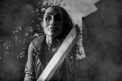 Alt Model Kenzie Burch (coltcoanphoto) Tags: 1825 altmodel conceptualshoot creepy female halloween horror machete sun tattoos thepurge scary mask killer masked hot sexy woman gorgeous