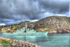 HMCS Athabaskan Narrows (Ross A Craig) Tags: stjohnsnewfoundland canadian navy united states hmcs fredericton athabaskan signal hill