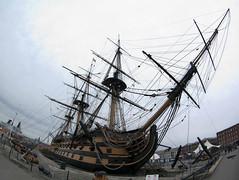 Fisheye view of HMS Victory - Copyright R.Weal 2010