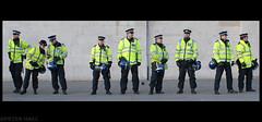 Nine (peterphotographic) Tags: uk england london student nikon britain protest trafalgarsquare police d200 policeman riotgear fee hivis sigma30mm