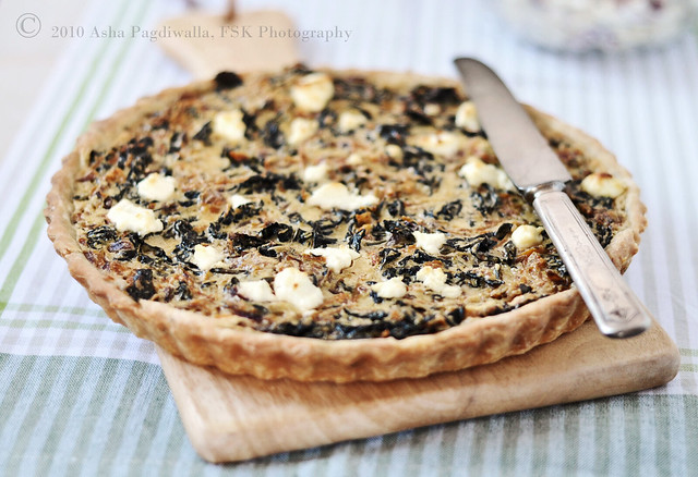 Kale and Carrot Tart wide