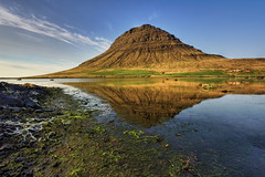Mountain by the sea (aevarg) Tags: mountain iceland kirkjufell hdr sland snfellsnes vatn grundarfjrur digitalblending abigfave vesturland theunforgettablepictures kirkjufellsfoss nikond700 1424mmf28g natureselegantshots varg 3exphdrdri aevarg vargumundsson afnikkor1424mmf28 stunningphotogpin