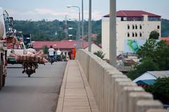 Spean Kazuna Bridge (Florent Lanquetin) Tags: voyage street travel bridge food travelling pig asia cambodge cambodia pont asie southeast rue mekong porc kampongcham sudest speankazuna