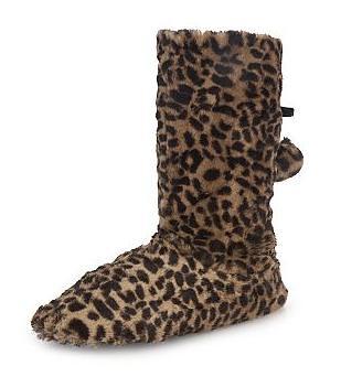 Asda leopard slipper boots