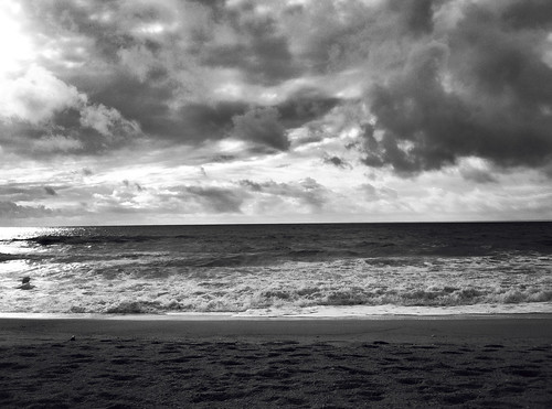 Half Moon Bay in B&W