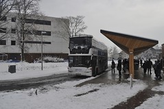 Snowy Highfield Interchange and Uni-Link Bus (crwilliams) Tags: snow university hampshire southampton universityofsouthampton date:month=december date:day=2 date:hour=11 date:wday=thursday date:year=2010