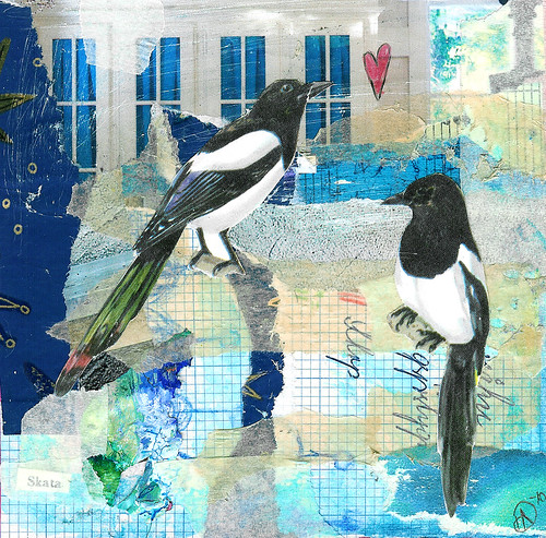 Collage 30: Magpie love