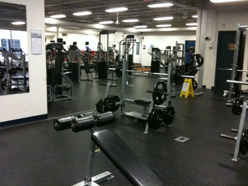 Only one in the gym