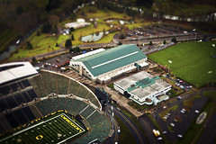 U of O (grotography) Tags: oregon football nikon stadium d2x ducks uofo americanfootball tiltshift autzenstadium grotography