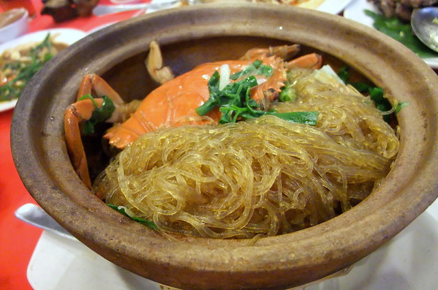 Claypot Crab with Glass Noodles